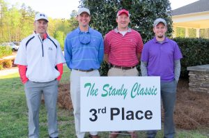 Third place team – Omega Construction (left to right): Daniel Barnes, Chad Motsinger, Tyler Cook and Dustin Hunter.