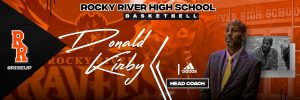 New head coach Donald Kirby at Rocky River High School. (RRHS)