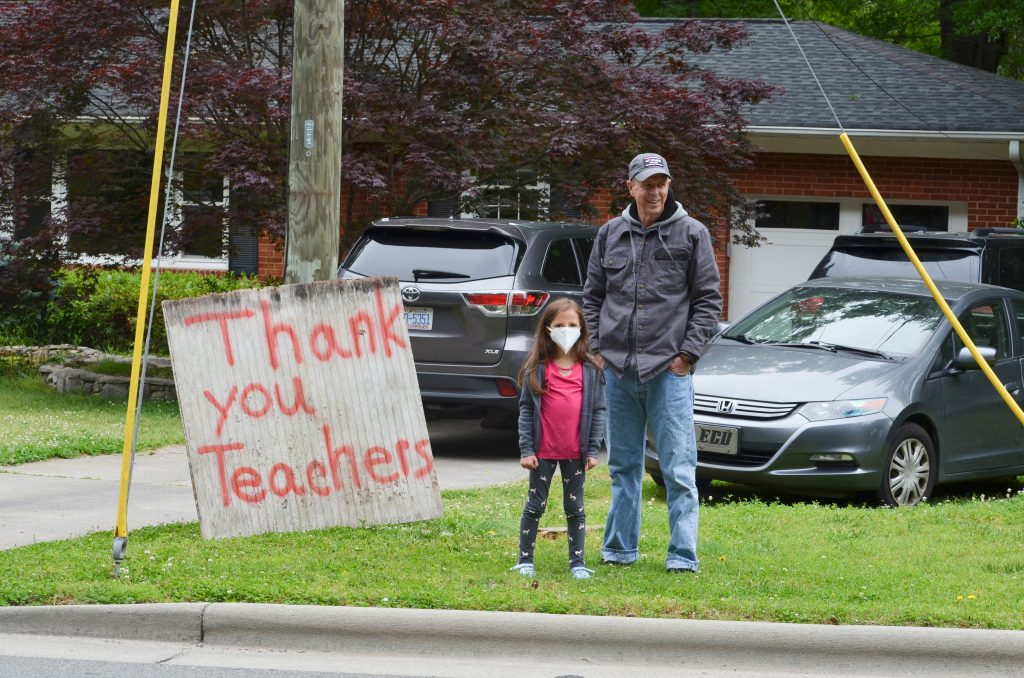 Signs were out all across Mint Hill in appreciation of Bain Elementary teachers