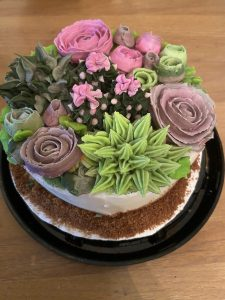 The Succulent Cake is another class offered at The Cake Dojo
