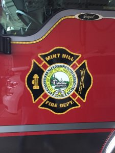 New emblem seal on fire engine #1
