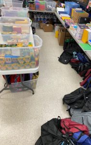 Book bags and supplies for Servants Hearts Back2School Program