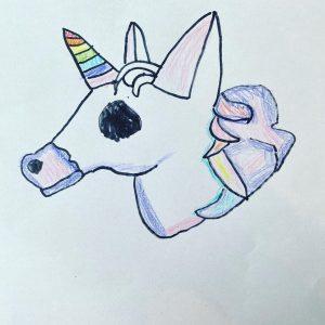 Hazel's unicorn drawing