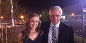 Morgan and her father.
