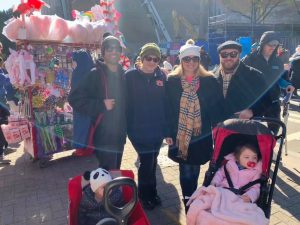 Kakachyan and family at the 2019 Charlotte Thanksgiving Day Parade