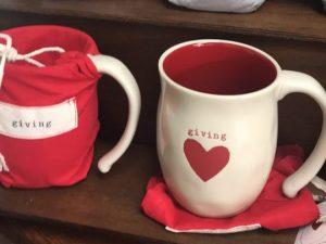 Warm Heart Mugs. Available at Goodnes Gracious Gifts & Interiors.