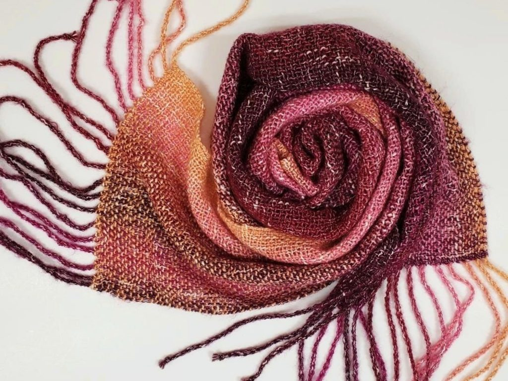 Scarf handwoven by Laura Forester