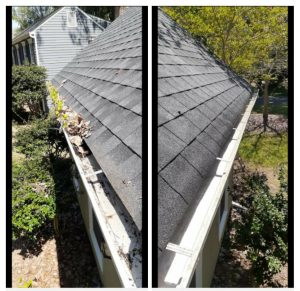 Gutter cleaning by T.R. Handy Services