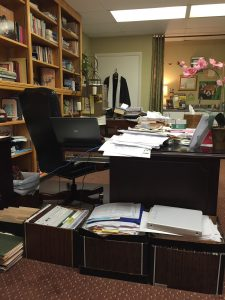 This client couldn't work in a disorganized, visually unappealing office.