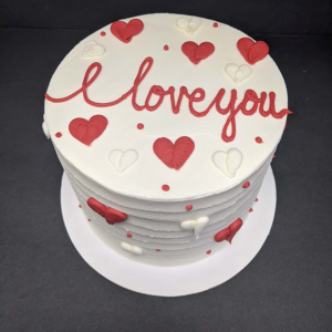 A Special Valentine's Cake from Daphne's Bakery.