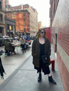 Paige Rabinowitz on the streets of New York City