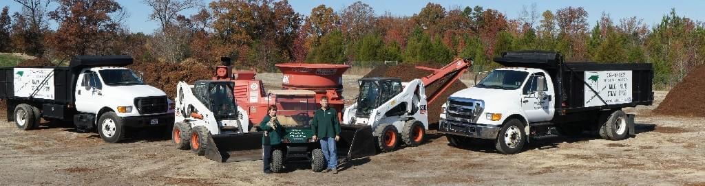 Truck and such at Metrolina Mulch LLC