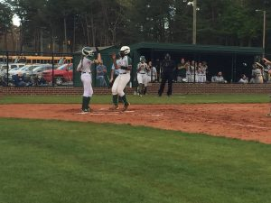 Maya Douglas touches home after hitting her second home run.