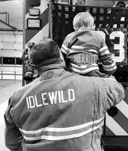 Maureen Merritts winning photograph of Idlewild Road Volunteer Fire Department