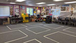 Elizabeth Mills' Queen's Grant High School classroom
