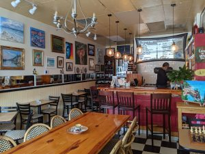 Work by diverse local artists graces the walls of Irene Cafe
