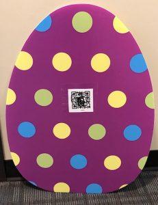 QR code on the egg
