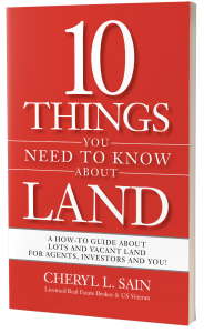 """Photo of front of Book """"10 Things You need To Know About Land"""""""