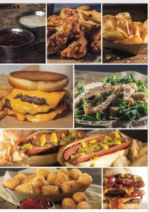 Catering options from Wayback Burgers