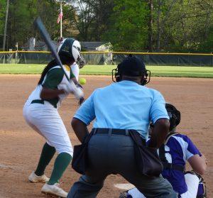 Indy's May Douglas at bat.