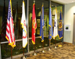Old Glory and Service Flags