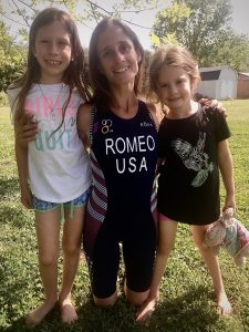 Madeline Romeo with daughters Isabella and Lilliana