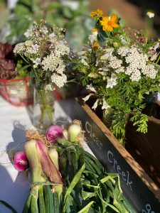 Flowers for sale at Mint Hill Farmers Market
