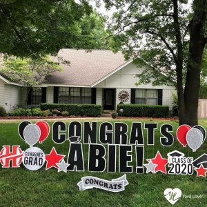 Class of 2020 yard sign by Yard Love Greetings