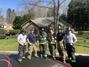 Shift C including Jake Faires at a home