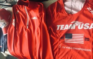 Romeo's Team USA race gear