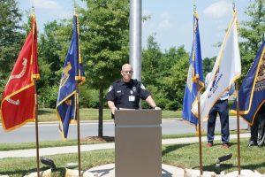 Officer Ron Daudelin, U.S. Army veteran.