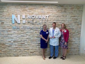 President Joy Greear with Mint Hill OB/GYN Lead Physician Dr. Chandler