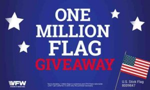 Flyer for free flag give away at ACE Hardware