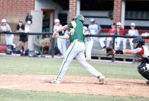 Joe Minaya gets the bat on the ball. Photo by Ron Morris.