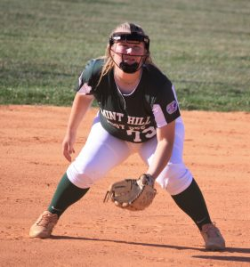 Mallory Shaver ready for action on the infield.