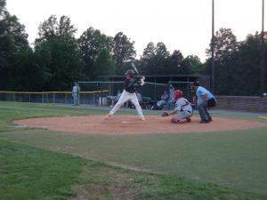 Wilson  Lohrer at bat ready to smack a base hit.