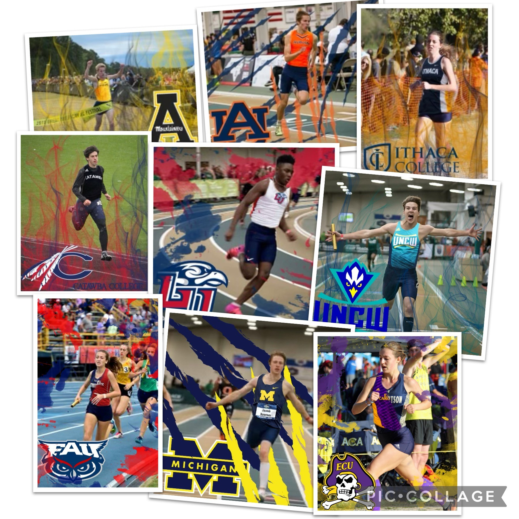 Nine of Allen's Seniors have signed Track and Field Scholarships.