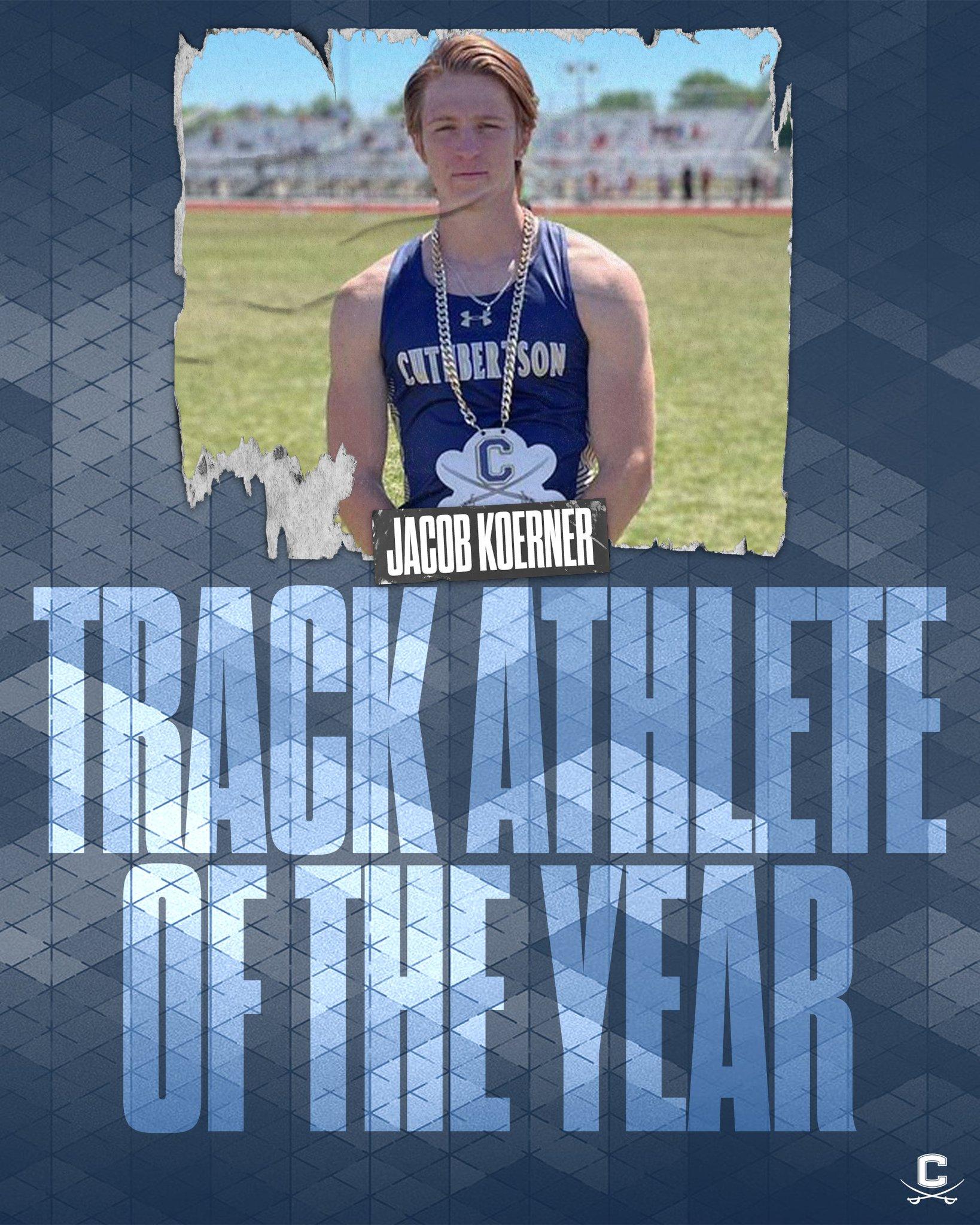 Jacob Koerner won SCC Track Athlete of the Year