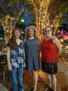 Veteran members Lindsay Birmingham, Mary Beth Foster and Jennifer Allen have been part of MOMS Club for over five years.