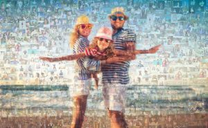 """An original photo mosaic by Create-A-Video is made into a 20"""" x 30"""" poster."""