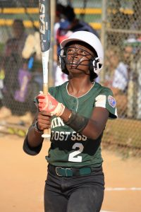 Mikenna Williams in action at the plate.