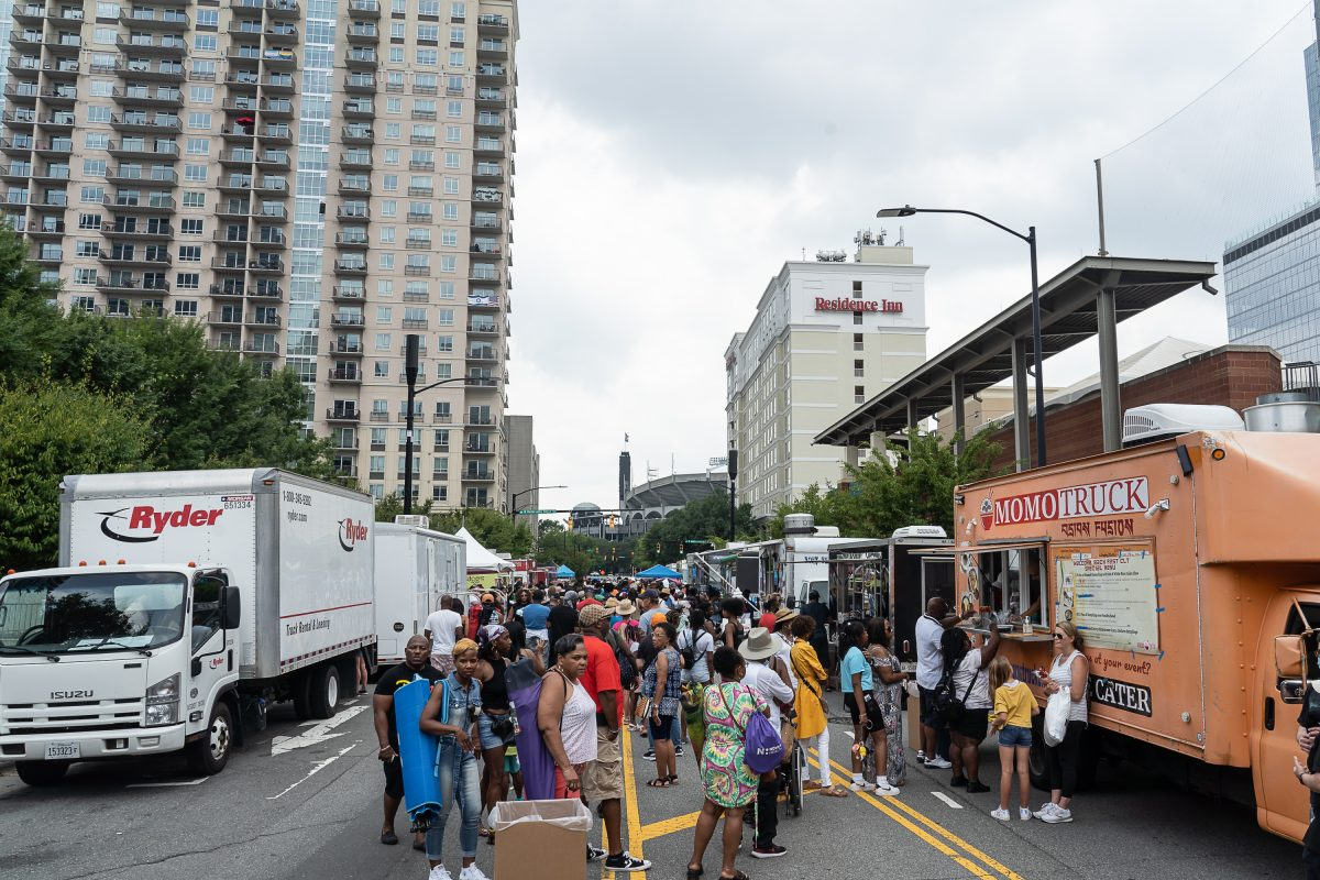 The food trucks at Welcome Back Fest