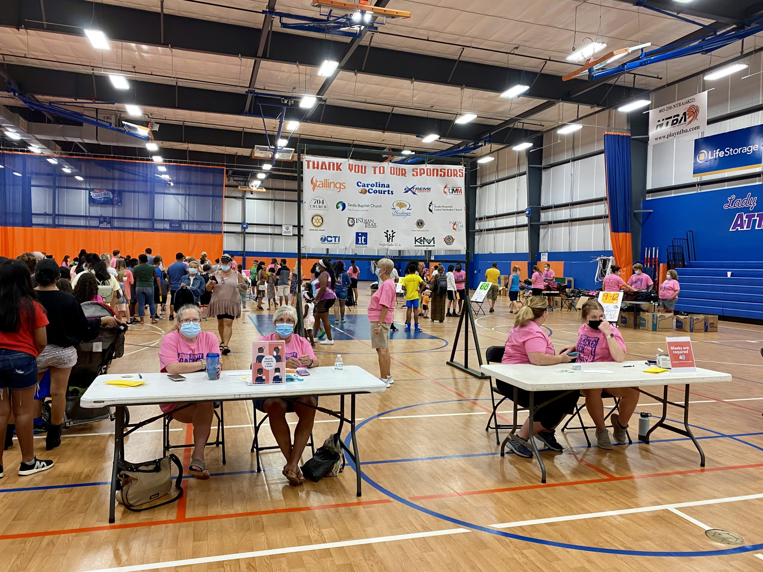 The Union County Back 2 School Bash was held Aug 14, 2021 at Carolina Courts in Indian Trail, NC.