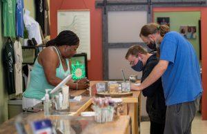 Monica Sharpe walks her customers through their pain control options.