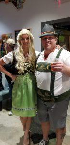 Anna Granger dressed up for Oktoberfest