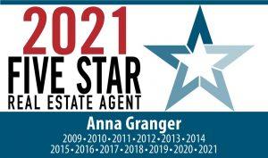 Anna Granger five star real estate agent