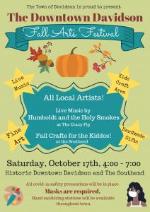 Flyer for Davidson Fall Art Festival