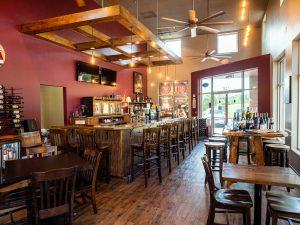 Inside of restaurant of Vintner's Hill Wine Bar and Bistro