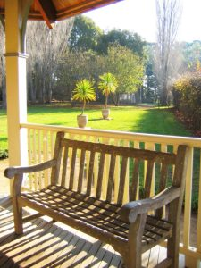 Clean wooden lawn furniture