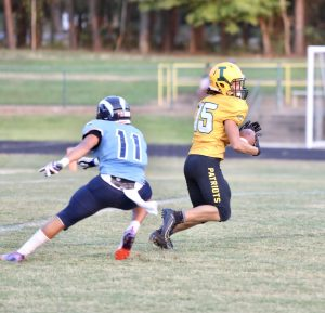 Joe Moraglia returns a punt in Indy's win over Hopewell.  (Photo by Ron Morris)